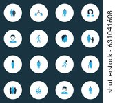 human colorful icons set.... | Shutterstock .eps vector #631041608
