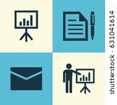 trade icons set. collection of... | Shutterstock .eps vector #631041614