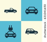 car icons set. collection of... | Shutterstock .eps vector #631041650