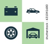 auto icons set. collection of... | Shutterstock .eps vector #631041680