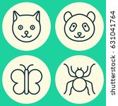 animal icons set. collection of ... | Shutterstock .eps vector #631041764