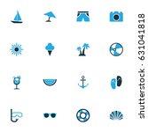 season colorful icons set.... | Shutterstock .eps vector #631041818