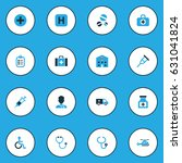 drug colorful icons set.... | Shutterstock .eps vector #631041824