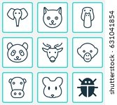 nature icons set. collection of ... | Shutterstock .eps vector #631041854