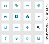shipment colorful icons set.... | Shutterstock .eps vector #631041878