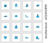 garment colorful icons set.... | Shutterstock .eps vector #631041890