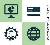trade icons set. collection of... | Shutterstock .eps vector #631041914