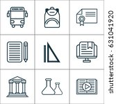 school icons set. collection of ... | Shutterstock .eps vector #631041920