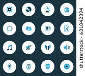 audio colorful icons set.... | Shutterstock .eps vector #631042394