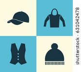 garment icons set. collection... | Shutterstock .eps vector #631042478