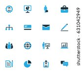 job colorful icons set.... | Shutterstock .eps vector #631042949