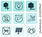 ecology icons set. collection... | Shutterstock .eps vector #631042964