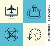 airport icons set. collection... | Shutterstock .eps vector #631042970