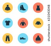 dress icons set. collection of... | Shutterstock .eps vector #631043048