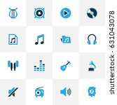 music colorful icons set.... | Shutterstock .eps vector #631043078