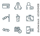 traveling icons set. collection ... | Shutterstock .eps vector #631043408