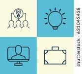 business management icons set.... | Shutterstock .eps vector #631043438