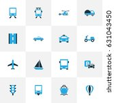 transport colorful icons set.... | Shutterstock .eps vector #631043450