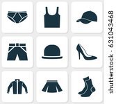 garment icons set. collection... | Shutterstock .eps vector #631043468
