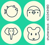 animal icons set. collection of ... | Shutterstock .eps vector #631043480