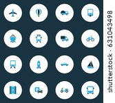 transport colorful icons set.... | Shutterstock .eps vector #631043498