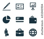 trade icons set. collection of... | Shutterstock .eps vector #631043504