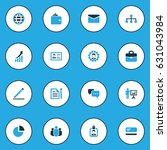 business colorful icons set.... | Shutterstock .eps vector #631043984