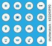 sun colorful icons set.... | Shutterstock .eps vector #631043990