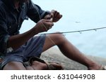 A Close Up Fisherman Doing Fis...