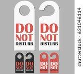 do not disturb signs set. hotel ... | Shutterstock .eps vector #631046114