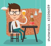 businessman with beer concept... | Shutterstock .eps vector #631046459