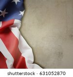 american flag on brown... | Shutterstock . vector #631052870