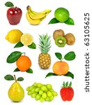 collection of fruit | Shutterstock . vector #63105625