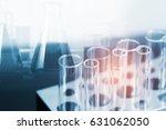 double exposure of equipment... | Shutterstock . vector #631062050