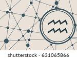 zodiac symbol in circle. vector ... | Shutterstock .eps vector #631065866