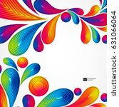 colorful striped drops splash... | Shutterstock .eps vector #631066064