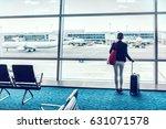 travel business woman standing... | Shutterstock . vector #631071578