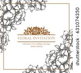 romantic invitation. wedding ... | Shutterstock .eps vector #631074350