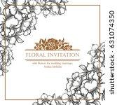 romantic invitation. wedding ... | Shutterstock .eps vector #631074350