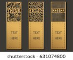 die and laser cut with wording... | Shutterstock .eps vector #631074800