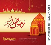 ramadan kareem design... | Shutterstock .eps vector #631077356