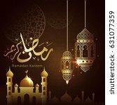 ramadan kareem design... | Shutterstock .eps vector #631077359