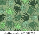 tropical seamless pattern with... | Shutterstock .eps vector #631082213