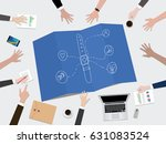 smart band fitness tracker... | Shutterstock .eps vector #631083524