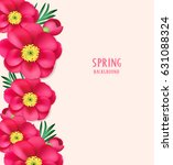 spring background with pink... | Shutterstock .eps vector #631088324