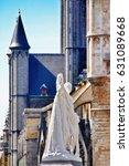 Small photo of Ghent (Gent), Belgium - May 06, 2016 - Statue of Jan Frans Willems (Monument ter ere van Jan-Frans Willems, de vader van de Vlaamse Beweging) in medieval city of Ghent (Gent)