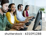 Small photo of Customer service executives working at office