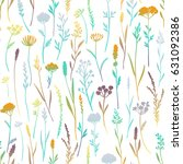 vector seamless pattern with... | Shutterstock .eps vector #631092386