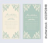 vintage invitation and wedding... | Shutterstock .eps vector #631092848