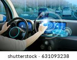 vehicle cockpit and screen  car ... | Shutterstock . vector #631093238